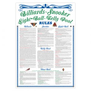 920120 Billiard Rule Poster