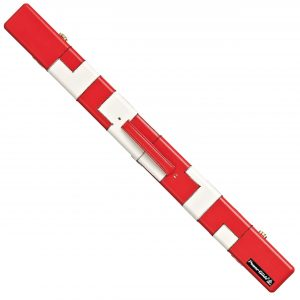 Patchwork Red 2pce Cue Case